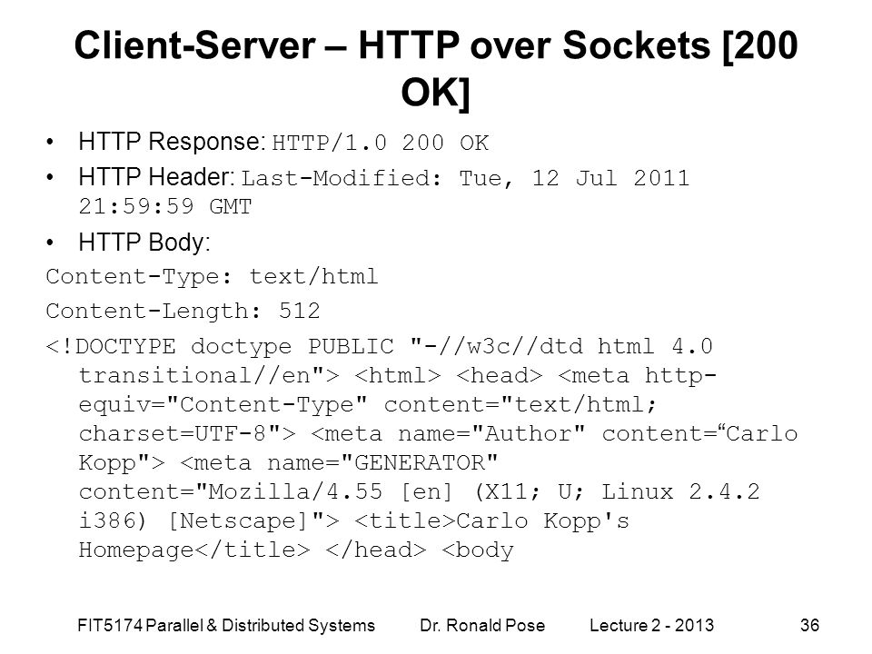 Client-Server – HTTP over Sockets [200 OK]